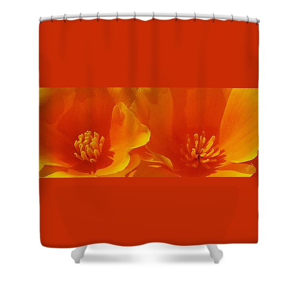 Wild Poppies Shower Curtain by Ben and Raisa Gertsberg