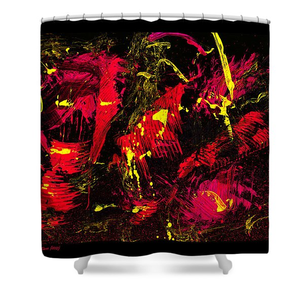 wild times - black Shower Curtain by Manuel Sueess
