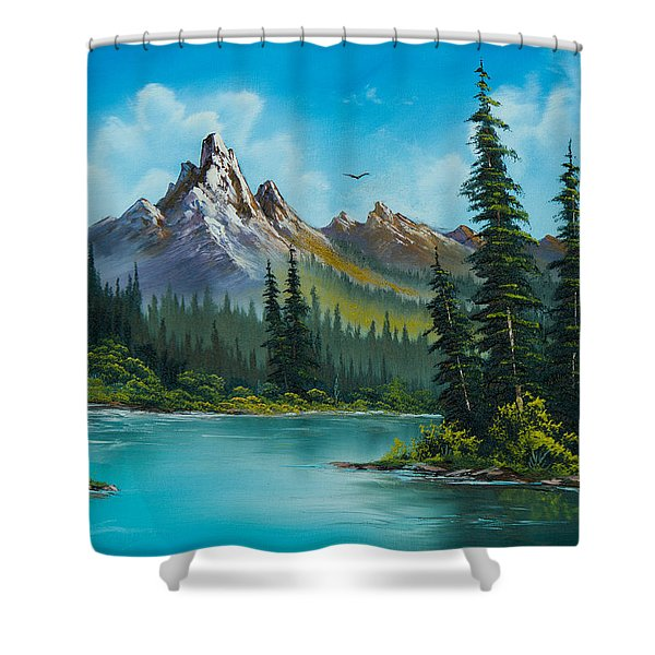 Wilderness Waterfall Shower Curtain by C Steele