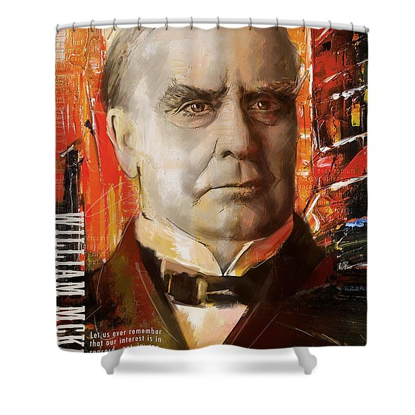 William McKinley Shower Curtain by Corporate Art Task Force