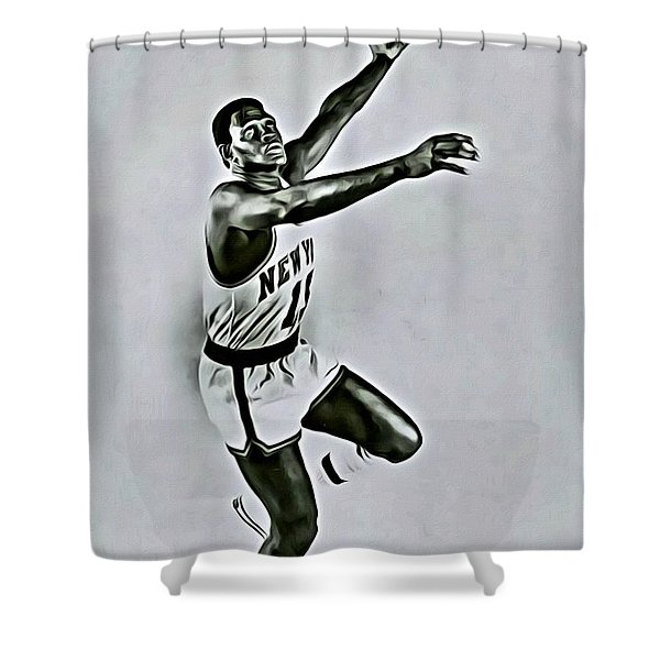 Willis Reed Shower Curtain by Florian Rodarte