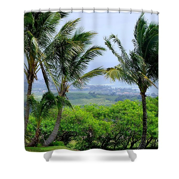 Wind Over Kalaheo Shower Curtain by Mary Deal
