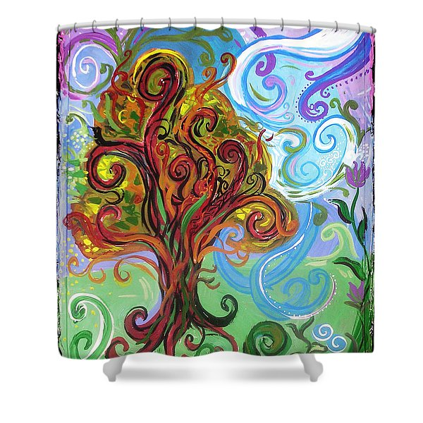 Winding Tree Shower Curtain by Genevieve Esson
