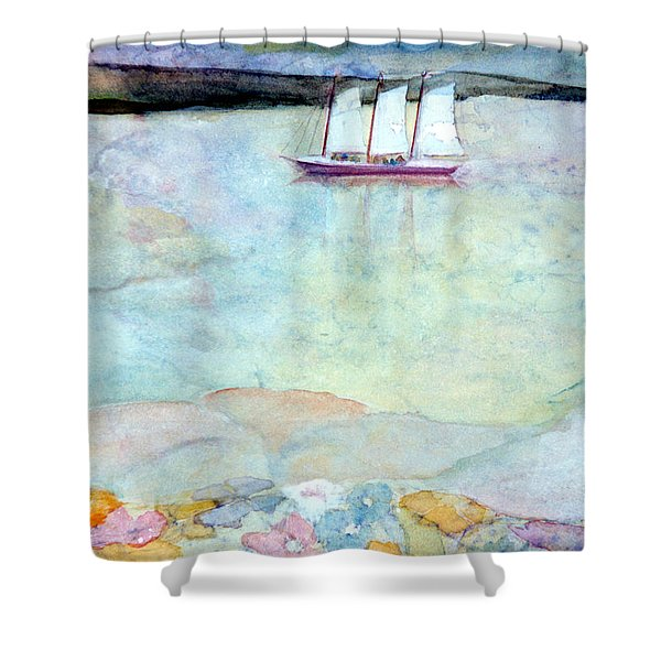 Windjammer Shower Curtain by Pamela Parsons