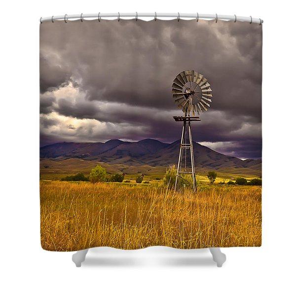 Windmill Shower Curtain by Robert Bales