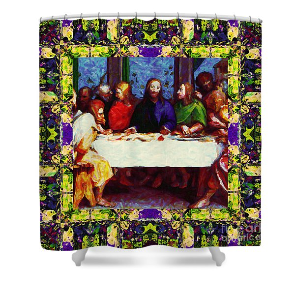 Window Into The Last Supper 20130130m138 Shower Curtain by Wingsdomain Art and Photography
