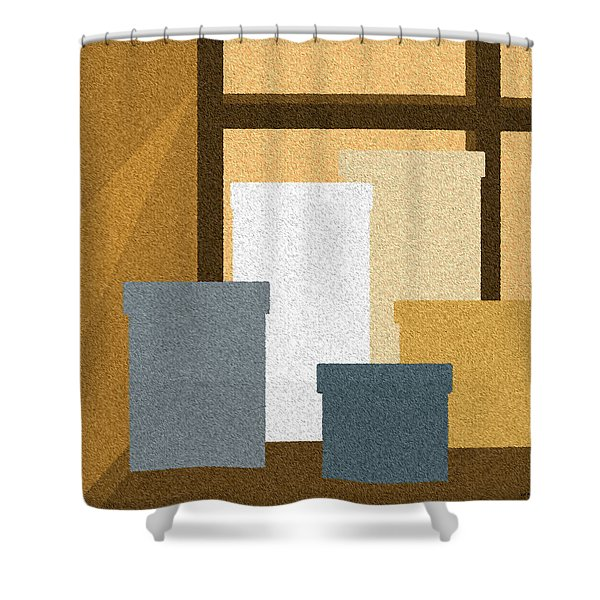 Window Light Shower Curtain by Val Arie