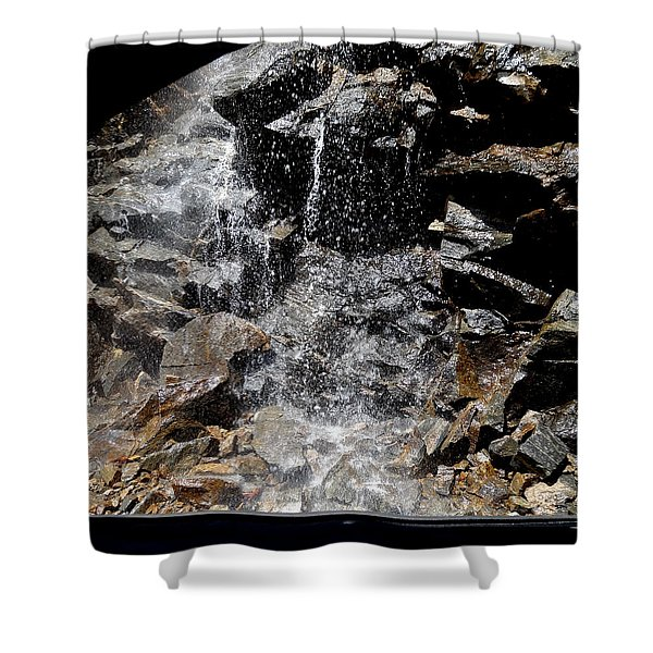 Window Waterfall Shower Curtain by Dan Sproul