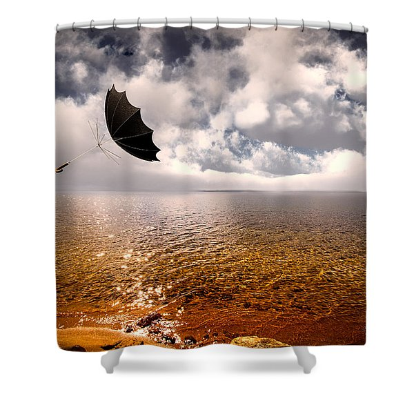 Windy Shower Curtain by Bob Orsillo