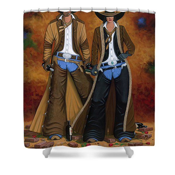 WINE AND ROSES Shower Curtain by Lance Headlee