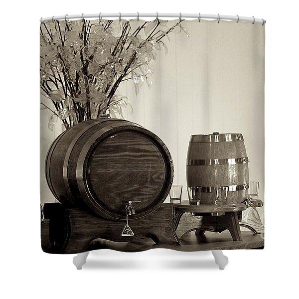 Wine Barrels Shower Curtain by Alanna DPhoto