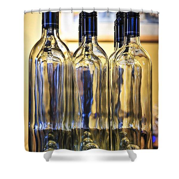 Wine Bottles Shower Curtain by Elena Elisseeva