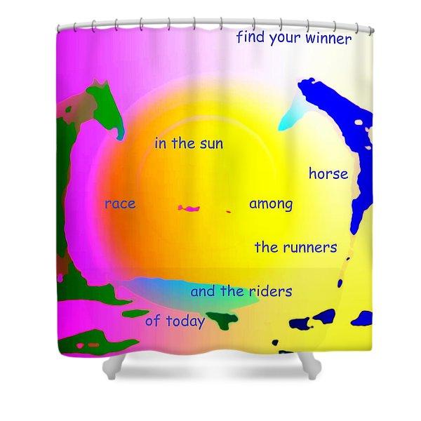 winner in the sun Shower Curtain by Hilde Widerberg