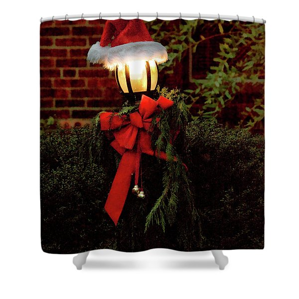 Winter - Christmas - It's Going To Be A Cold Night Shower Curtain by Mike Savad