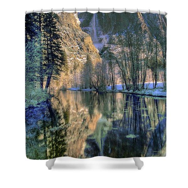 Winter Falls Shower Curtain by Bill Gallagher