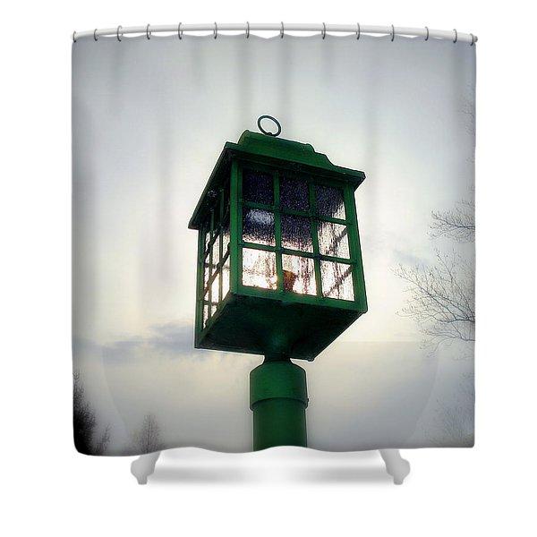 Winter Light Shower Curtain by J Allen
