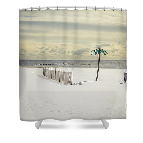 Winter Paradise Shower Curtain by Evelina Kremsdorf