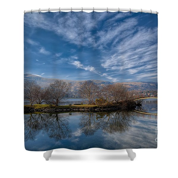 Winter Reflections Shower Curtain by Adrian Evans