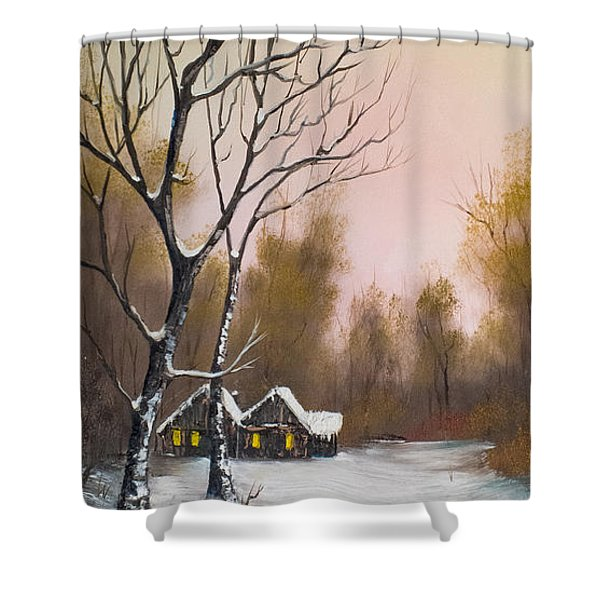 Winter Solace Shower Curtain by C Steele