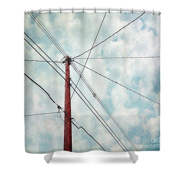wired Shower Curtain by Priska Wettstein
