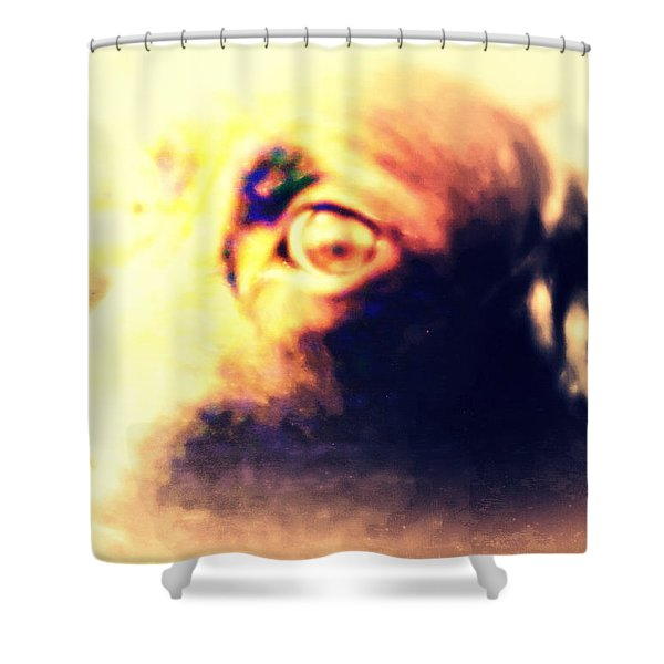 wish you were human Shower Curtain by Hilde Widerberg
