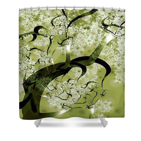 Wishing Tree Shower Curtain by Anastasiya Malakhova