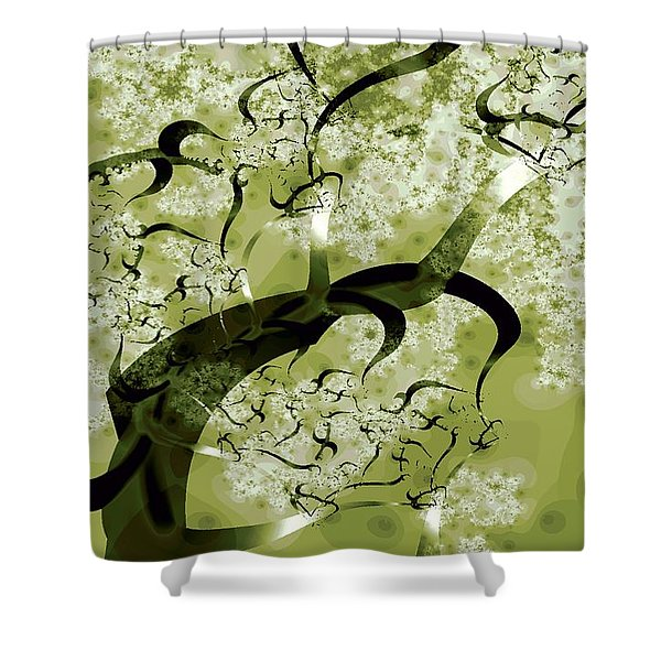 Wishing Tree Shower Curtain by Anastasiya Malakhova