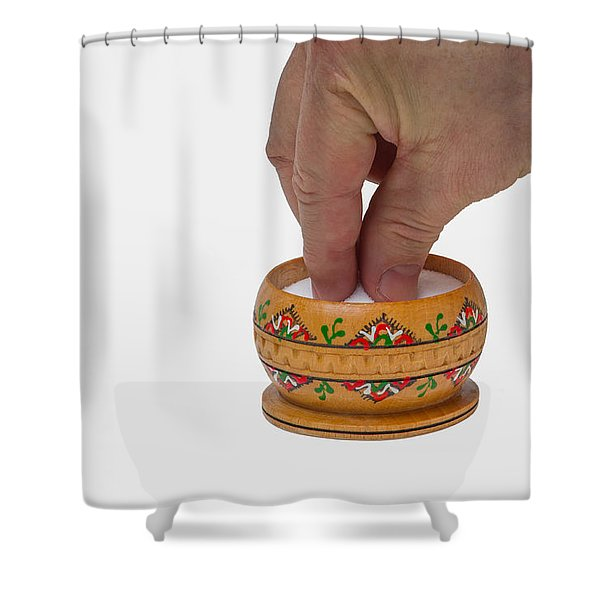 With a grain of salt - Featured 3 Shower Curtain by Alexander Senin