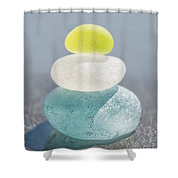 With A Twist Shower Curtain by Barbara McMahon