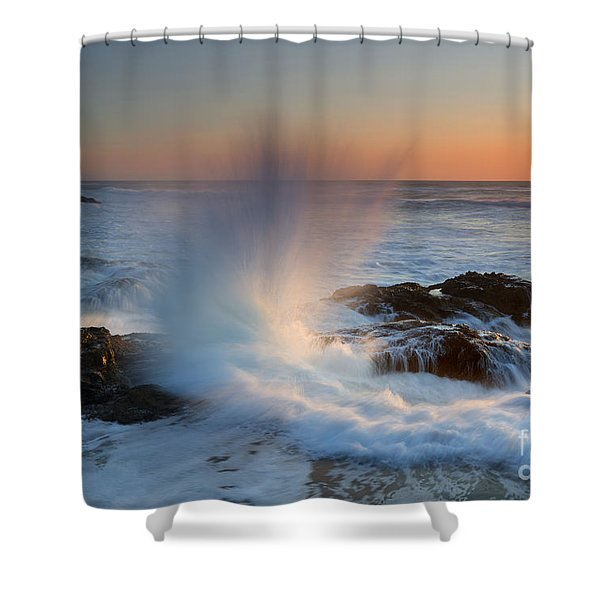 With Force Shower Curtain by Mike  Dawson