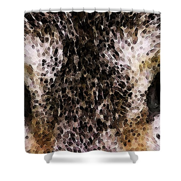 Wolf Eyes Shower Curtain by Sharon Cummings