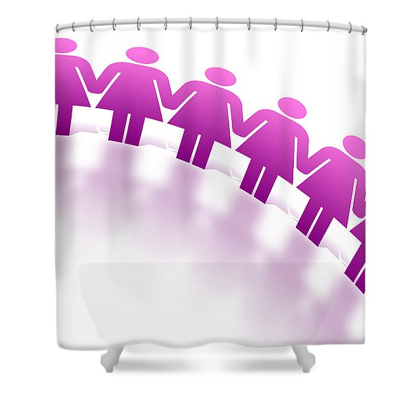 Women Holding Hands Shower Curtain by Aged Pixel
