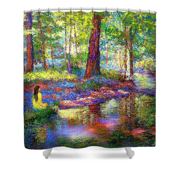 Woodland Rapture Shower Curtain by Jane Small