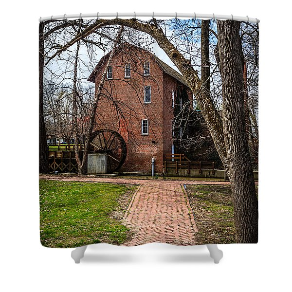 Wood's Grist Mill in Hobart Indiana Shower Curtain by Paul Velgos