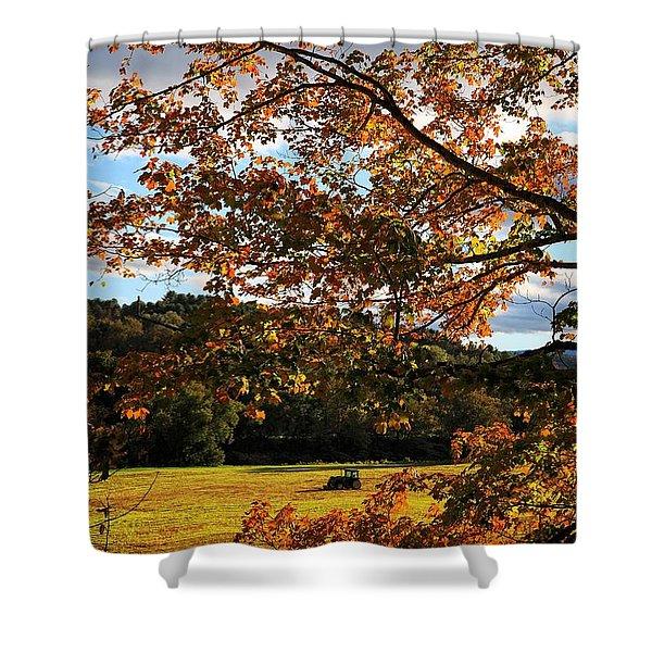 Woodstock Vermont Shower Curtain by Edward Fielding