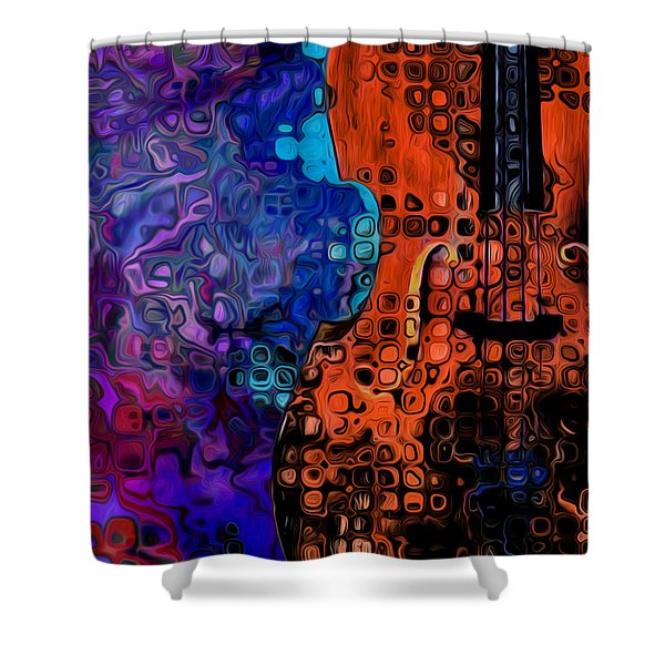 Woody Sound Shower Curtain by Jack Zulli