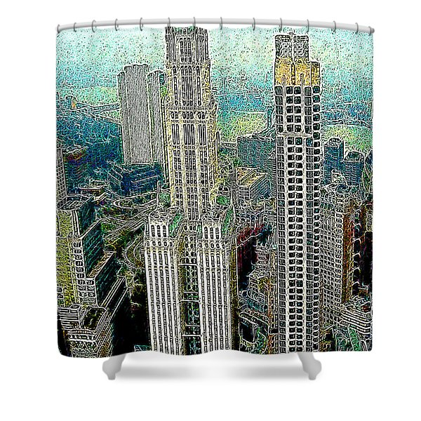 Woolworth Building New York City 20130427 Shower Curtain by Wingsdomain Art and Photography