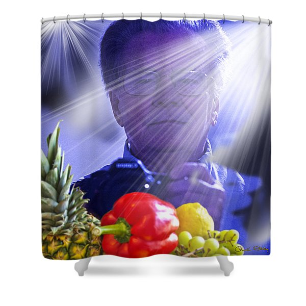 Working Shower Curtain by Chuck Staley