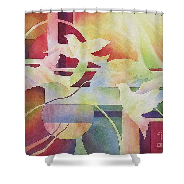 World Peace 2 Shower Curtain by Deborah Ronglien