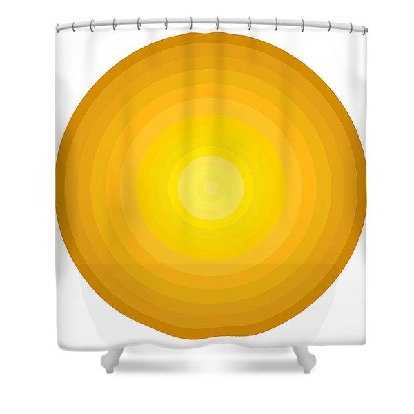 Yellow Circles Shower Curtain by Frank Tschakert