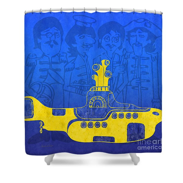 Yellow Submarine Shower Curtain by Andee Design