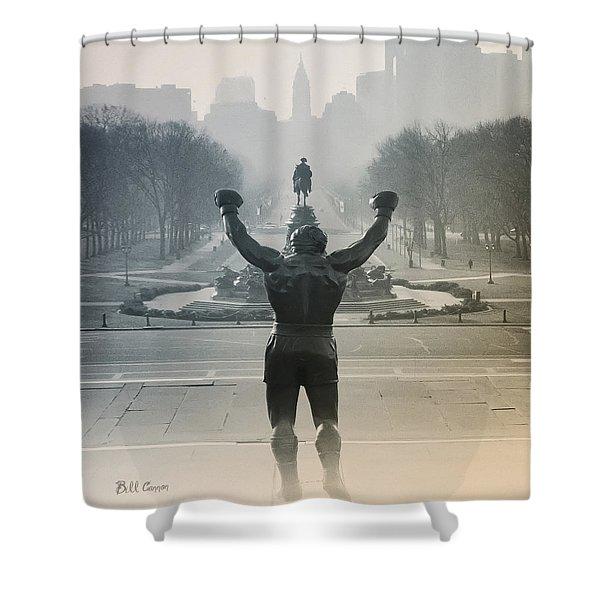 Yo Adrian Shower Curtain by Bill Cannon