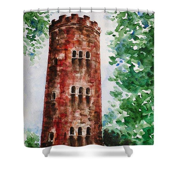Yokahu Tower  Shower Curtain by Zaira Dzhaubaeva