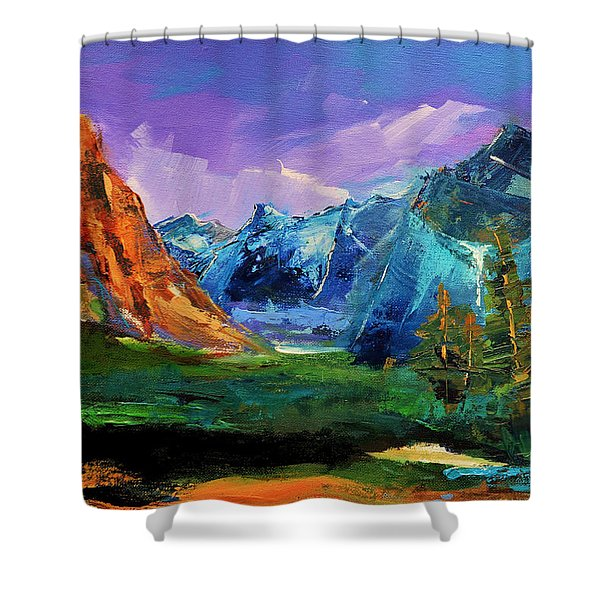 Yosemite Valley - Tunnel View Shower Curtain by Elise Palmigiani