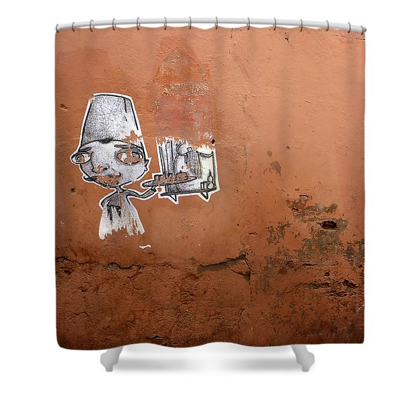 You can leave your hat on Shower Curtain by A Rey