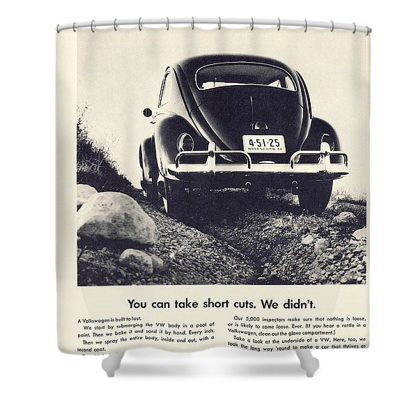 You Can Take Short Cuts. We Didn't Shower Curtain by Nomad Art And  Design