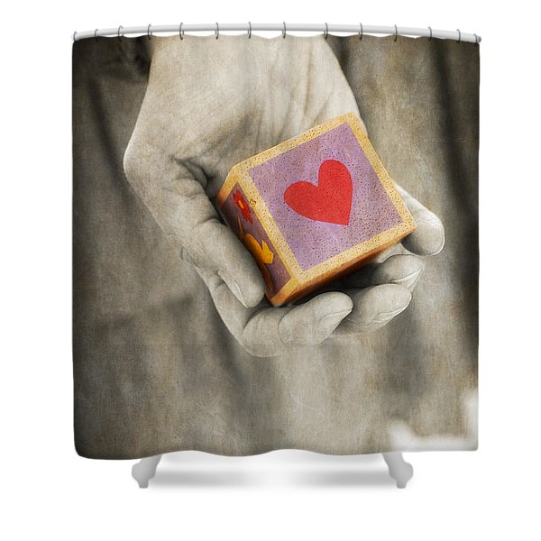 You hold my heart in your hand Shower Curtain by Edward Fielding