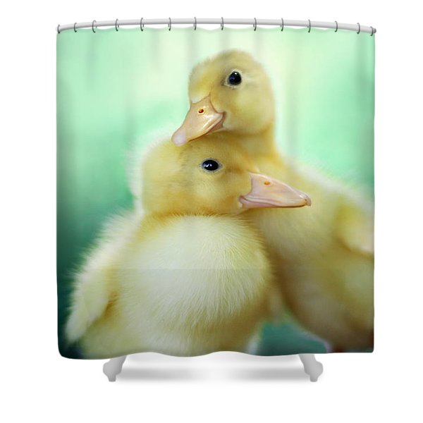 You Make Me Smile Shower Curtain by Amy Tyler