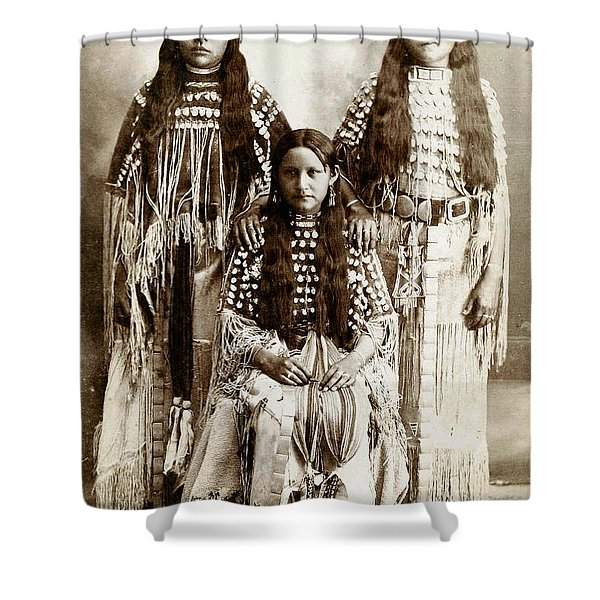 Young Kiowa Belles 1898 Shower Curtain by Unknown