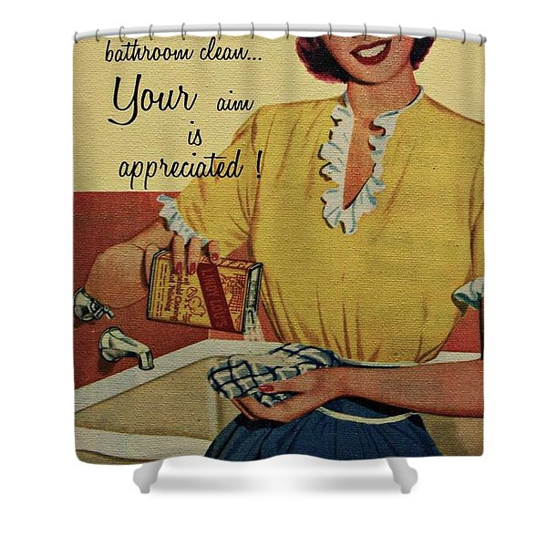 Your Aim Is Appreciated Shower Curtain by Movie Poster Prints